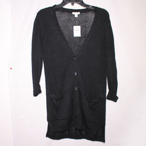 NWT J. Jill Thin Knit Long Sleeve Sweater Cardigan
